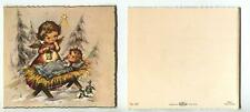 VINTAGE CHRISTMAS ANGEL CHRIST CHILD MANGER STAR TREES LANTERN GREETING MCM CARD