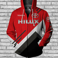 TOYOT HILUX-TOP GIFT-Men's Zipper Hoodie 3D-SIZE S TO 5XL