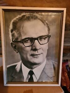 DDR Wandbild Erich Honecker Bild Politik Gemälde SED Partei Sozialismus Porträt