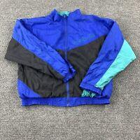 Vintage 90s Reebok Wind Breaker Colorblock Track Jacket Mens Size Large adult