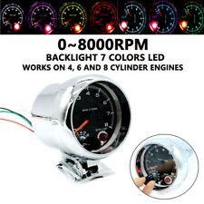 "3.75"" LED 12V Petrol Car Tachometer 0-8000 RPM Works On 4, 6 & 8 Cylinder Engine"