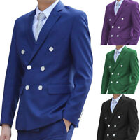 Slim Fit Men Suits Wedding Groomsmen Tuxedo Notch Lapel Double-Breasted Blazers