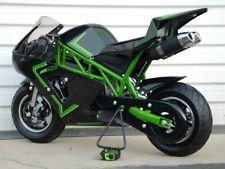Gas Mini Pocket Rocket Bike, 49cc 2-stroke (premix); dual exhaust - Green