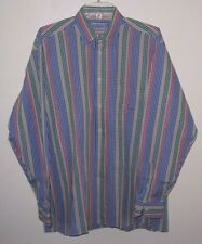 Vintage Bullock & Jones Plaid Button Front Dress Shirt XL NWOT