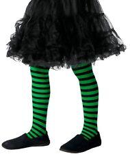 Filles Vert Noir méchant sorcière Halloween déguisement costume tenue collant