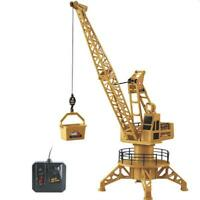 Wire Control RC Crane Tower 4CH Fork Lift Construction Vehicle Model Truck Toys