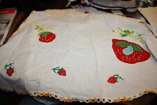 Vintage embroidered and crochet apron