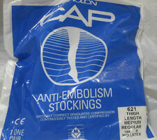 CAROLON CAP ANTI-EMBOLISM STOCKINGS 621 THIGH LENGTH MEDIUM REGULAR NATURAL NEW