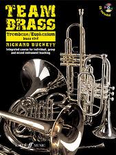 Equipo De Latón Trombón Bombardino Bass Clef Instrumental Solo Faber música Book & Cd