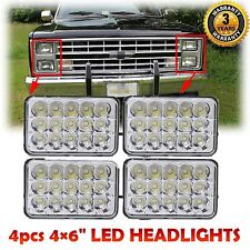 """4pcs 4×6"""" CREE LED Headlights Sealed Beam High Low For CHEVY PICK UP 1981-1987"""
