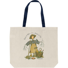 Tote Bag Reusable Shopping Cotton Country Fall Christian Hands Work Hearts God