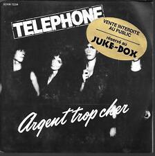 """45 TOURS / 7"""" JUKE BOX--TELEPHONE--ARGENT TROP CHER / AU COEUR DE LA NUIT--1980"""
