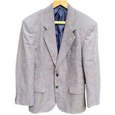 Vintage 80s Houndstooth Tweed Structured Blazer C&A Mens UK 38S Sports Jack Prop