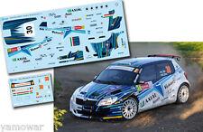 Decal 1:43 Laszlo Vizin - SKODA FABIA S2000 - IRC Geko Rally Ypres 2012