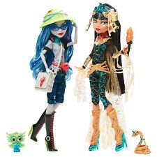 MONSTER HIGH 2017 CLEO DE NILE & GHOULIA YELPS 2 PACK SDCC EXCLUSIVE DOLL SET