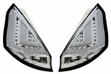 Rear Tail Lights Lamps Pair Clear Chrome Lightbar LED For Ford Fiesta MK7 08-12