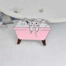 Jewelry Clothes Shirt Accessories jian Cartoon Cat Bathtub Shape Enamel Brooch