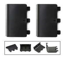 2 x Replacement Black Battery Pack Back Cover for Xbox One Wireless Controller