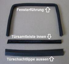 Fensterführung + Schachtleiste + Gummilippe Opel Rekord C / Commodore A 2/3-trg