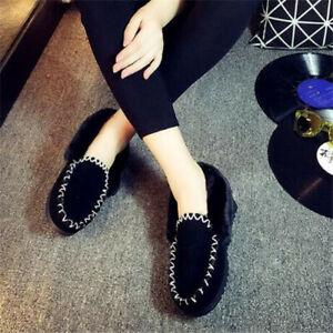 New  Sheepskin Lambskin Moccasins Slippers slip-on Womens Ladie Mens Warm