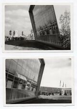 PHOTO Lot 2 photos Hanovre Hanover Allemagne vers 1957 Architecture Ville
