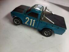 Aurora HO Slot Car, AFX Baja Datsun Pickup #211 Rare Blue