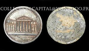 Académie de Médecine et de Chirurgie Médaille Uni-Face 1774. Paris. Étain