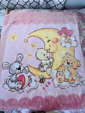 Solaron baby blanket throw toddler infant pink Bears