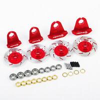 Red Alloy Wheel Rim Brake Disc Kit For HPI HSP RC 1:10 on Road Racing Model Car