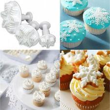 3 Stück Schneeflocke Fondant Kuchen Keks Sugarcraft Ausstecher Torten Kuchen