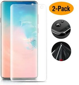 2x Samsung Galaxy S10 Hydrogel Full Coverage LCD Screen Protector Shield Cover