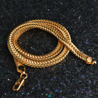 Fashion Men Women 18K Gold Plated 6MM Snake Bone Chain Necklace Jewelry 20 Inch