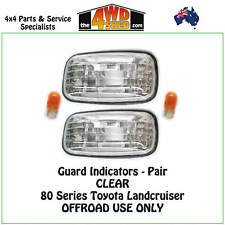 INDICATOR GUARD REPEATER BLINKER LIGHTS fit LANDCRUISER 80 SERIES PAIR CLEAR