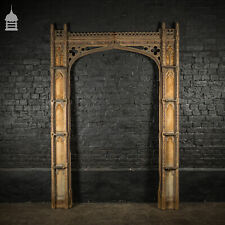 More details for 19th ecclesiastical gothic tracery pine painted door frame surround