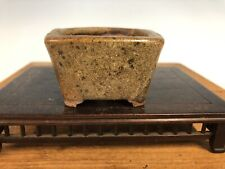 Mame Size Glazed Bonsai Tree Pot By Imaoka Machinao 2 5/8�