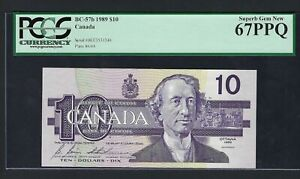 Canada 10 Dollars 1989 BC-57b Uncirculated Graded 67
