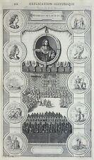 Eau forte, médailles de Louis XV, Palais de Justice, Paris, Parlement, roi