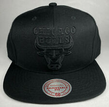 Mitchell and Ness NBA Chicago Bulls Black Wool Solid Snapback Hat, Cap, New