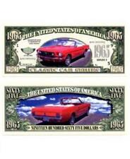1965 Red Ford Mustang Novelty 1965 Dollar Bill Classic Car Series