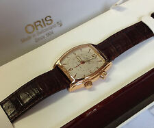 Oris Mechanical Alarm Gents Dress Watch - 18ct Gold - 7479-60 - 1996 -