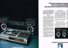 PUBLICITE ADVERTISING 044  1978  GRUNDIG  hi-fi  RPC 450  ( 2pages)