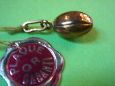 PENDENTIF BALLON DE RUDBY PLAQUE OR VINTAGE 70 NEUF/NEW PENDENT GOLD PLATED