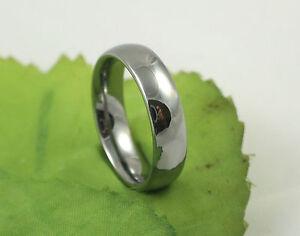 Gents High Quality Heavyweight Plain Tungsten Carbide 6mm Wedding Band Ring