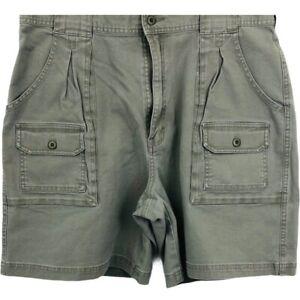 Cabela's Womens Utility Cargo Hiker Shorts Gray 7-Pocket Buttons 16
