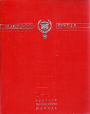 Cadillac Eldorado & Seville 1990 Original Factory Shop Manual Excellent American