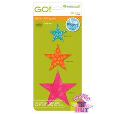 """Accuquilt GO! Fabric Cutter Die 2"""", 3"""", 4"""" Star Quilt Sew 55028"""