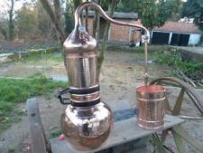Premium Flip top copper column alembic still 20 L - 5 Gallon w/thermometer