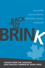 BACK FROM THE BRINK - HALPERN, PAUL/ CAKEBREAD, CAROLINE/ NICHOLLS, CHRISTOPHER