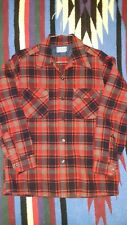 VTG 70s Pendleton Board Shirt Plaid Wool Loop Collar Mens Medium Made In The USA