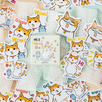 45pcs/box Fat Cats Life DIY Diary Stickers Paper Labels Gift Packaging Decor zi